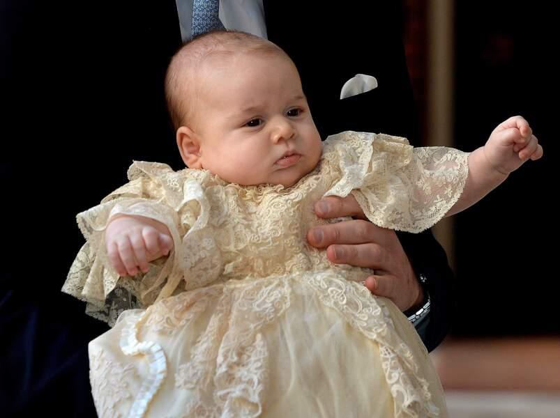 Le prince George lors de son baptème, le 23 octobre 2013