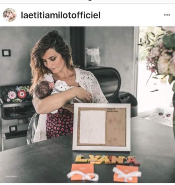 Laetitia Milot et sa petite fille