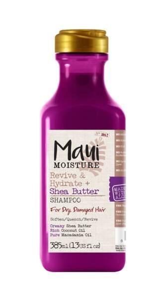 Shampooing au karité, Maui Moisture, 11,99 € en exclusivité chez Monoprix