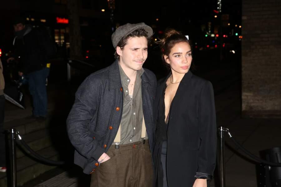 Brooklyn Beckham et Hana Cross le 18 février à Londres