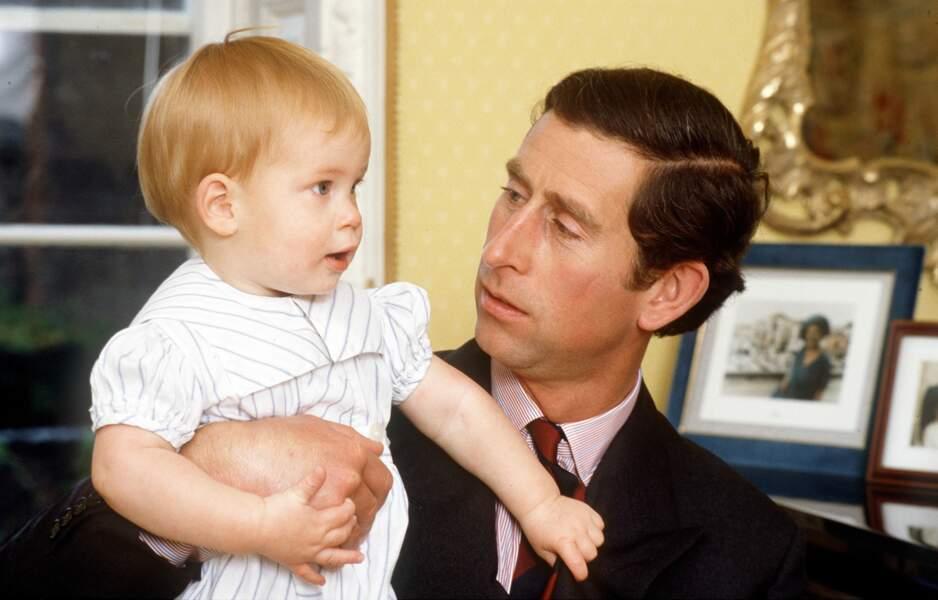 Le Prince Harry et son père