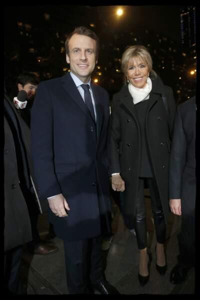 Emmanuel Macron et sa femme Brigitte, le 22 février 2017