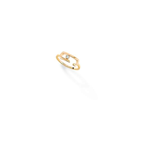 Bague diamant Move Addiction, Messika by Gigi Hadid, or jaune 18 carats