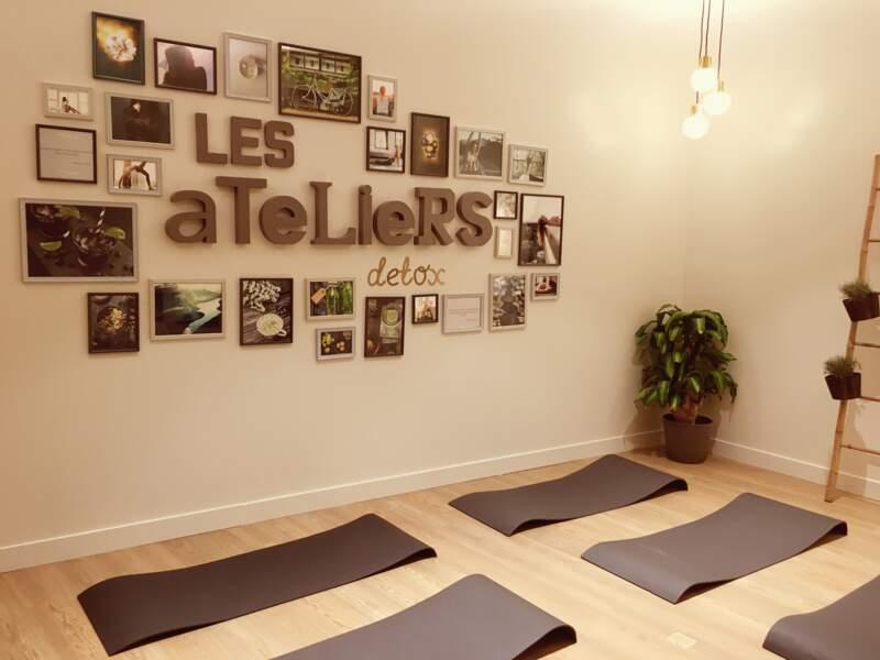 La salle réservée pour les ateliers détox cuisine, yoga...