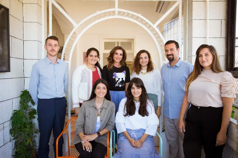 Rania de Jordanie a misé sur un look plutôt sobre mais très élégant