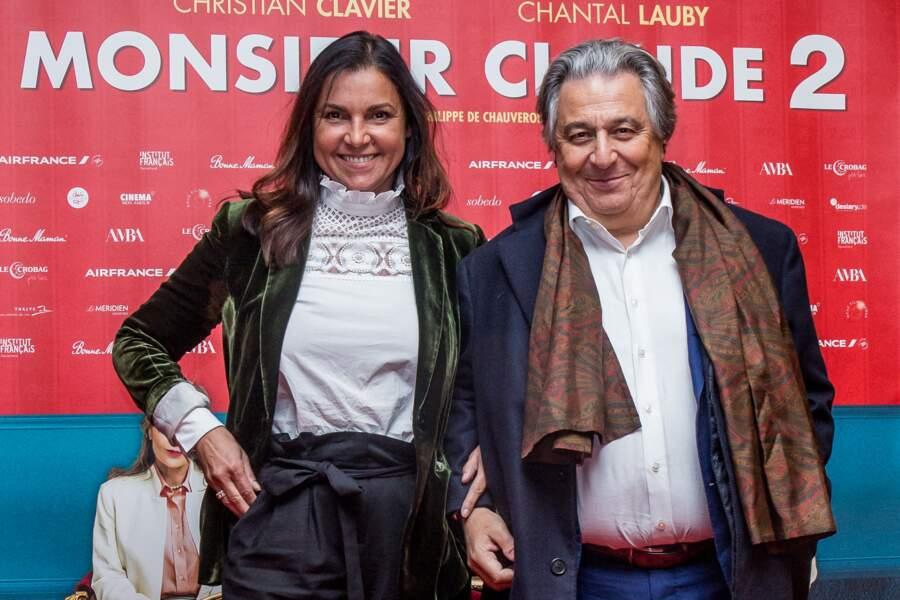 Christian Clavier et Isabelle de Araujo semblent toujours aussi amoureux