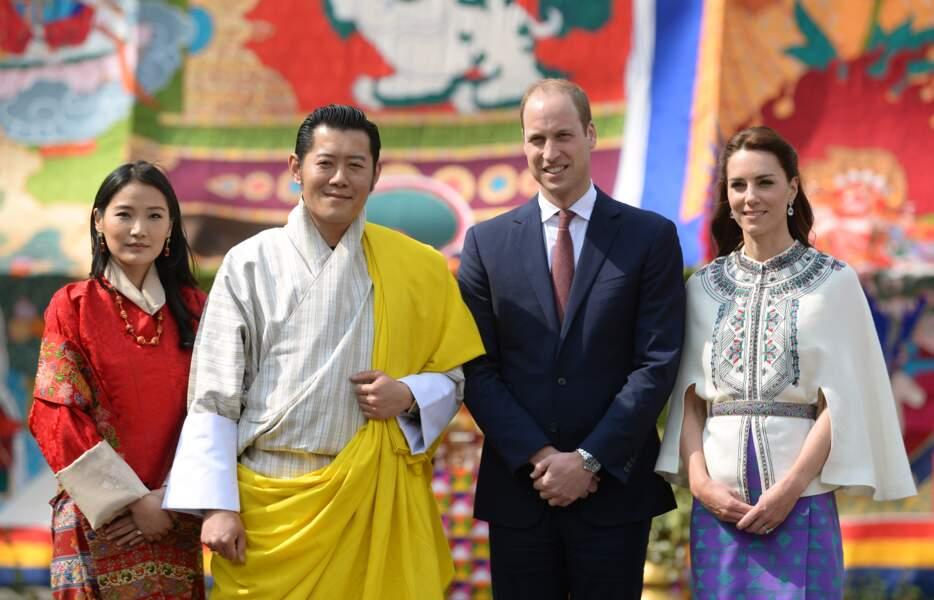 Kate et William ont rencontré le roi du Bhoutan Jigme Khesar Namgyel Wangchuck et son épouse Jetsun Pema