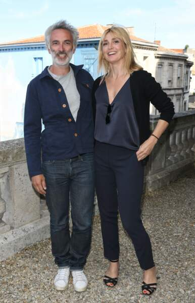 Julie Gayet était visiblement ravie de se rendre au festival du Film francophone d'Angoulême