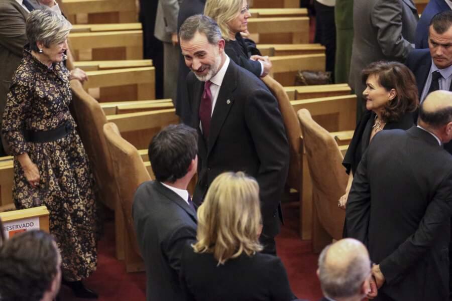 Cette soirée a aussi été l'occasion pour Manuel Valls de rencontrer le roi d'Espagne