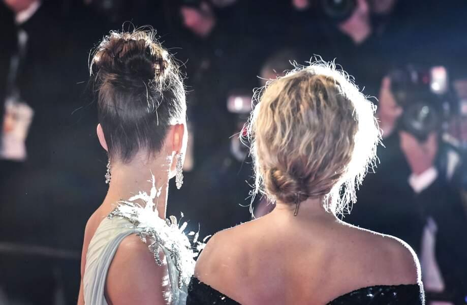Adèle Exarchopoulos et Virginie Efira sous le feu des projecteurs: chacune son style de chignon