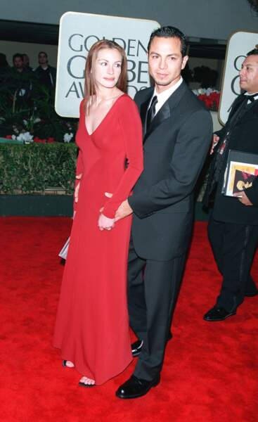 Julia Roberts avec son compagnon Benjamin Bratt aux Golden Globes en 2000
