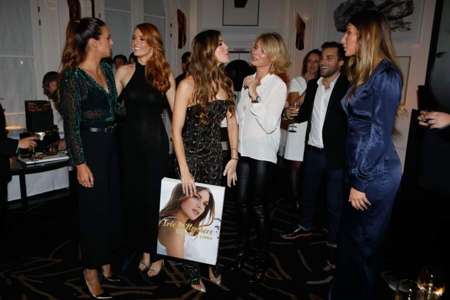 Sylvie Tellier très en forme pour le lancement du livre d'Iris Mittenaere avec Marine Lorphelin et  Maëva Coucke