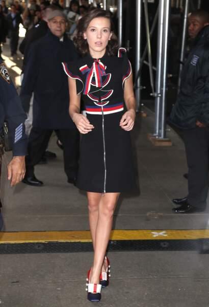 A 13 ans, Millie Bobby Brown est devenue une icône mode qui impose un style pointu sur les tapis rouges