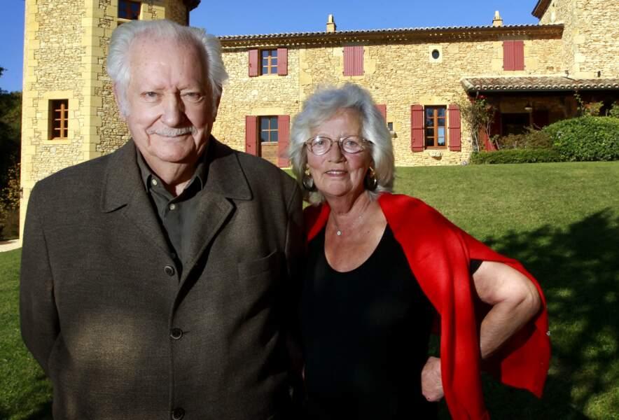 Pierre Bellemare et son épouse Roselyne dans leur propriété près de Bergerac en Dordogne, en 2011