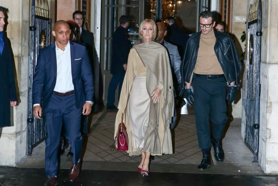 Céline Dion et Pepe Munoz se rendent au défilé de Valentino à Paris, le 23 janvier 2019