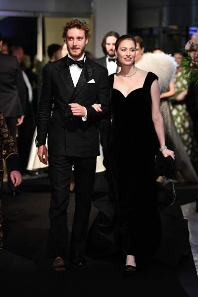 Pierre Casiraghi and Beatrice Casiraghi en robe noire Alberta Ferretti
