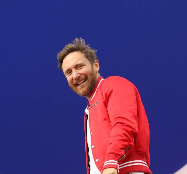 David Guetta, en forme au Grand Prix de France au Castellet le 24 juin