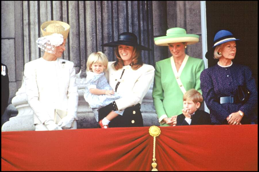 Beatrice d'York et le prince Harry, en juin 1990
