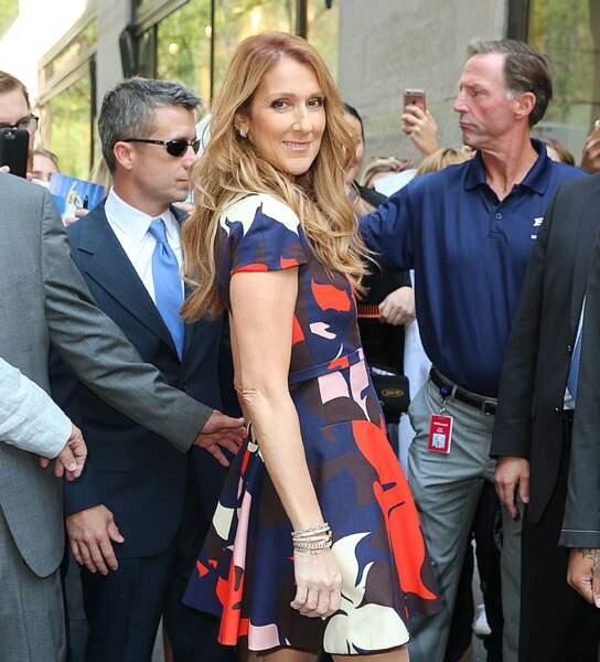 Céline Dion à New York, en 2016