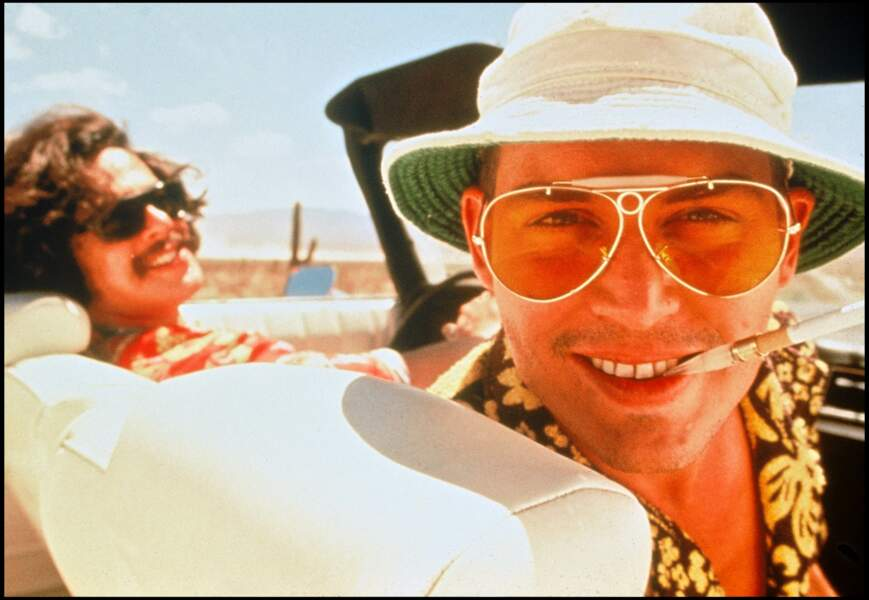 "Johnny Depp et Benicio Del Toro dans le film ""Las Vegas Parano"" (1998)"