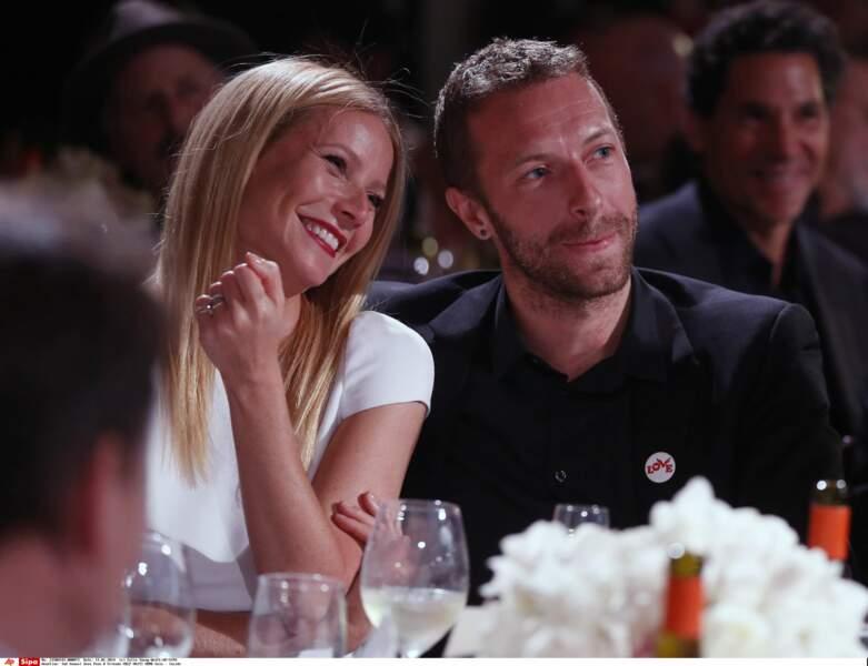 "Gwyneth Paltrow et Chris Martin au gala ""Help Haiti Home"" en 2014 à Beverly Hills"