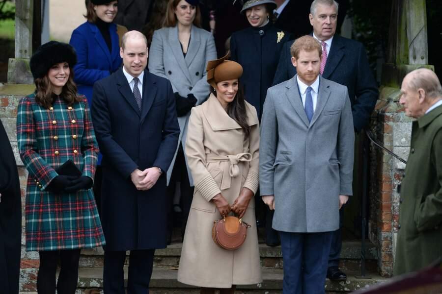 Kate, William, Meghan Markle et le prince Harry