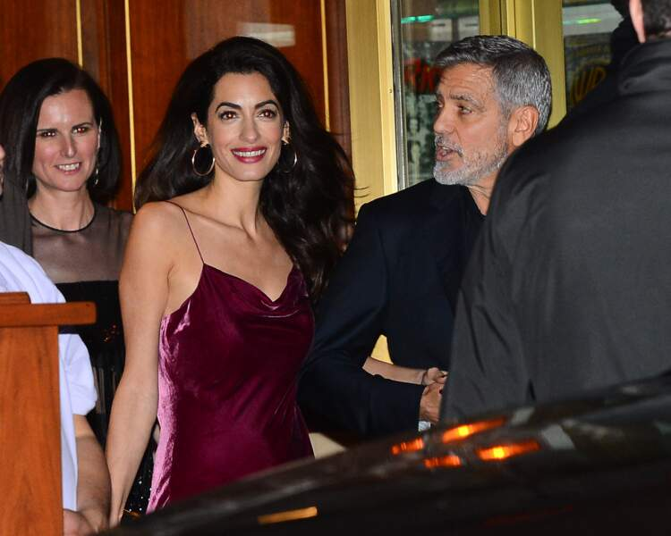 Amal et George Clooney partent de la soirée anniversaire à Jennifer Aniston