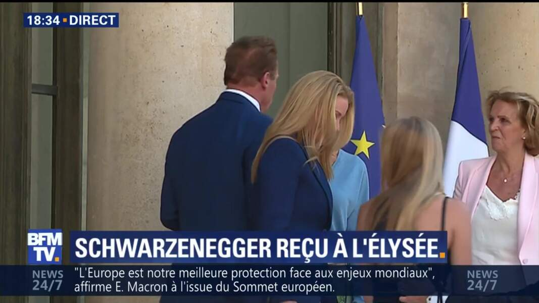 Arnold Schwarzenegger quitte l'Elysée