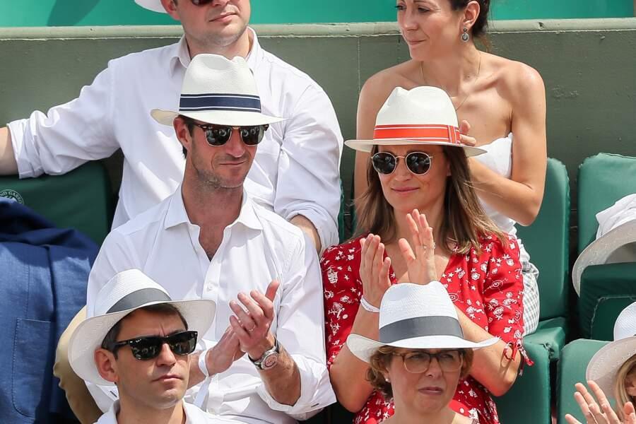 Pippa Middleton et son mari profitent des matchs