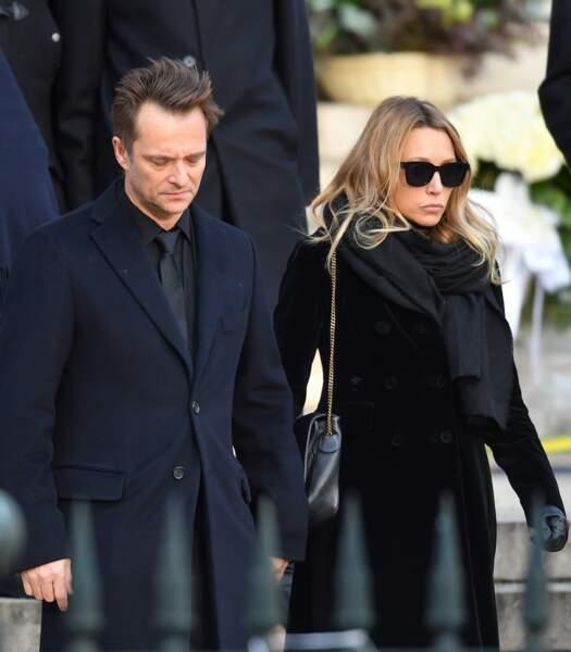 David Hallyday et Laura Smet à la Madeleine, le 9 décembre 2017.
