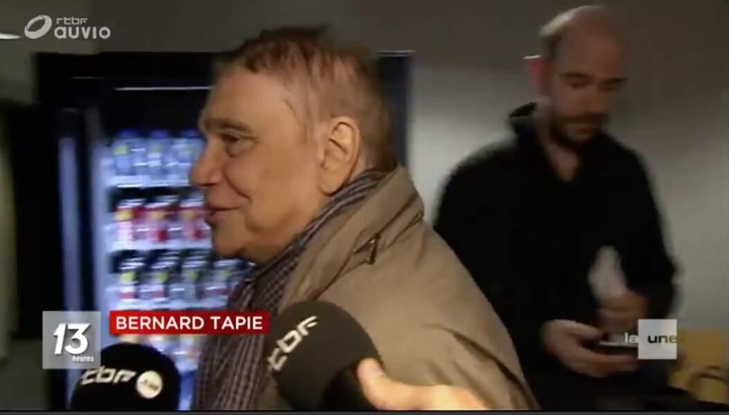 Bernard Tapie plaisante sur son cancer de l'estomac : 1e apparition publique depuis l'annonce de sa maladie