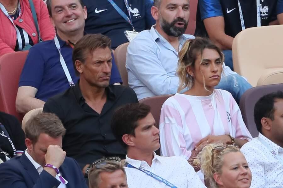 Hervé Renard et sa fille Candide Renard devant le match France-Danemark