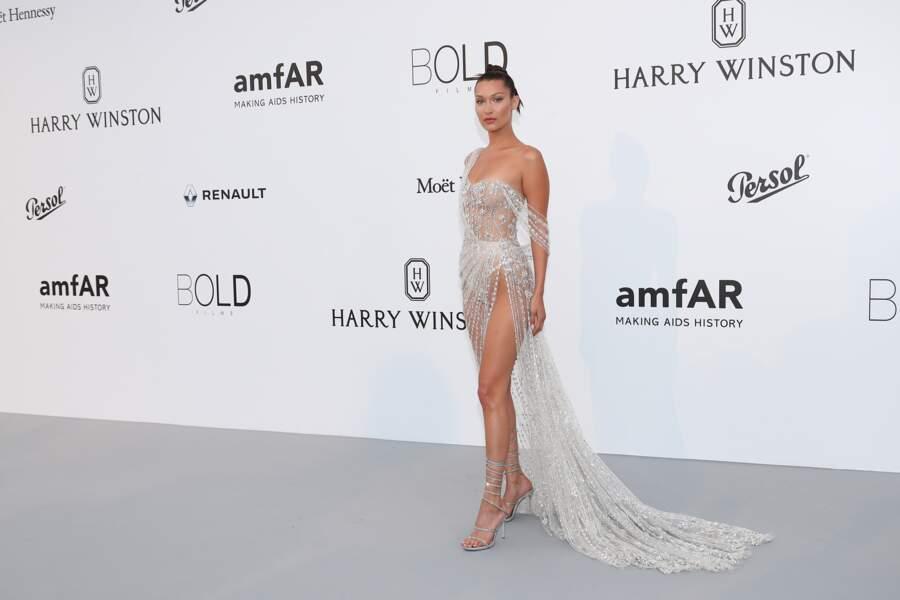 Bella Hadid lors du 70 ème Festival International du Film de Cannes