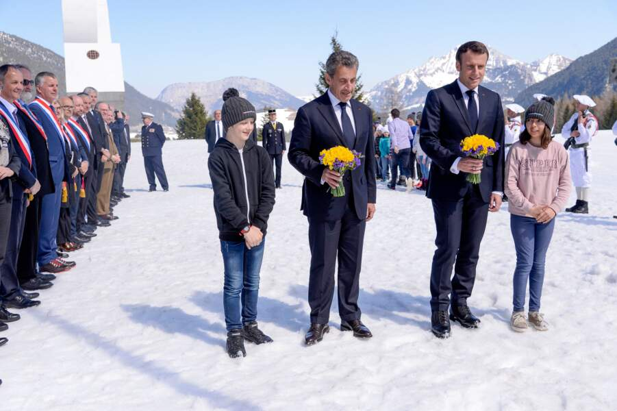 Nicolas Sarkozy s'est révélé plus décontracté pour ce déplacement avec Emmanuel Macron en Haute-Savoie