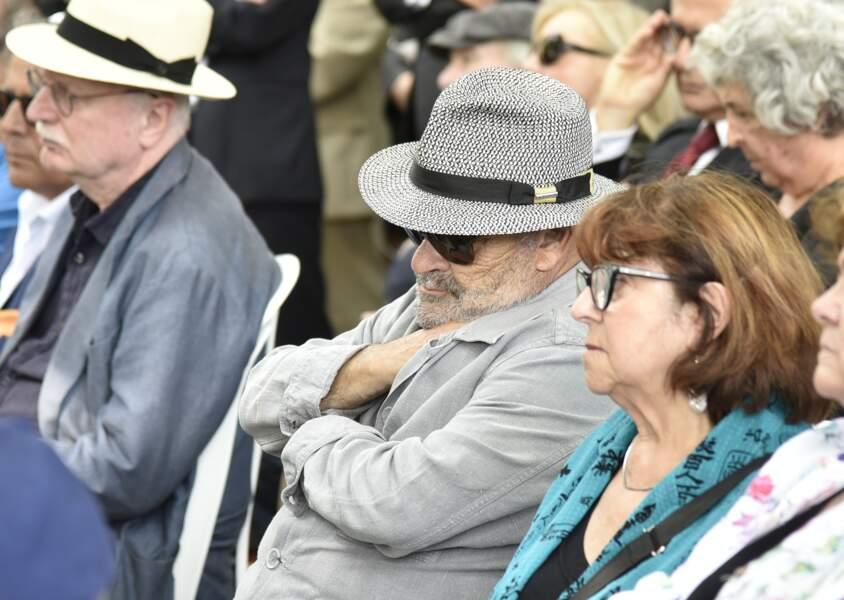 L'acteur Jean Benguigui aux funérailles de Claude Lanzmann le jeudi 12 juillet