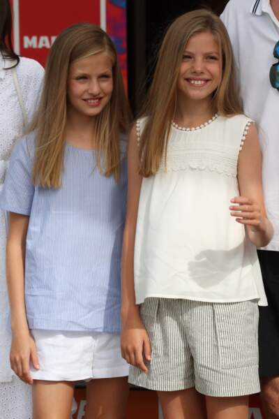 Leonor, 13 ans,  l'aînée à gauche, Sofia la cadette se ressemblent beaucoup