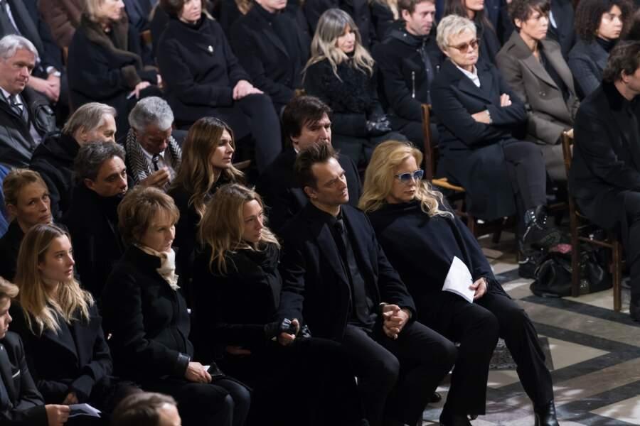 Les enfants aînés de Johnny Hallyday lors de la cérémonie à la Madeleine, le 9 décembre 2017.