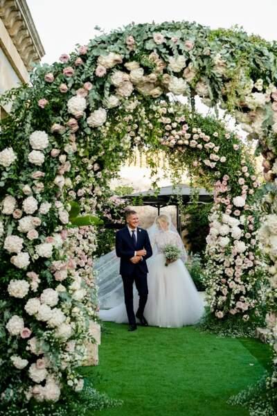 Chiara Ferragni sublime mariée au bras de son père