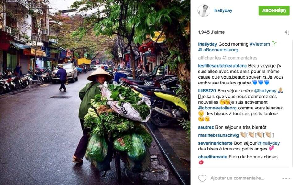 L'arrivée de Laeticia Hallyday au Vietnam