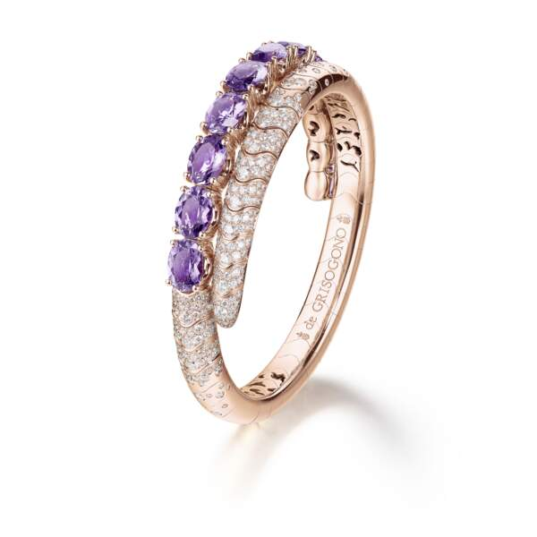 Bague en or rose, amethysts, diamants, prix sur demande, De Grisogono.