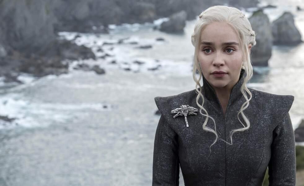 Daenerys Targaryen (incarnée par Emilia Clarke), personnage emblématique de Game of Thrones