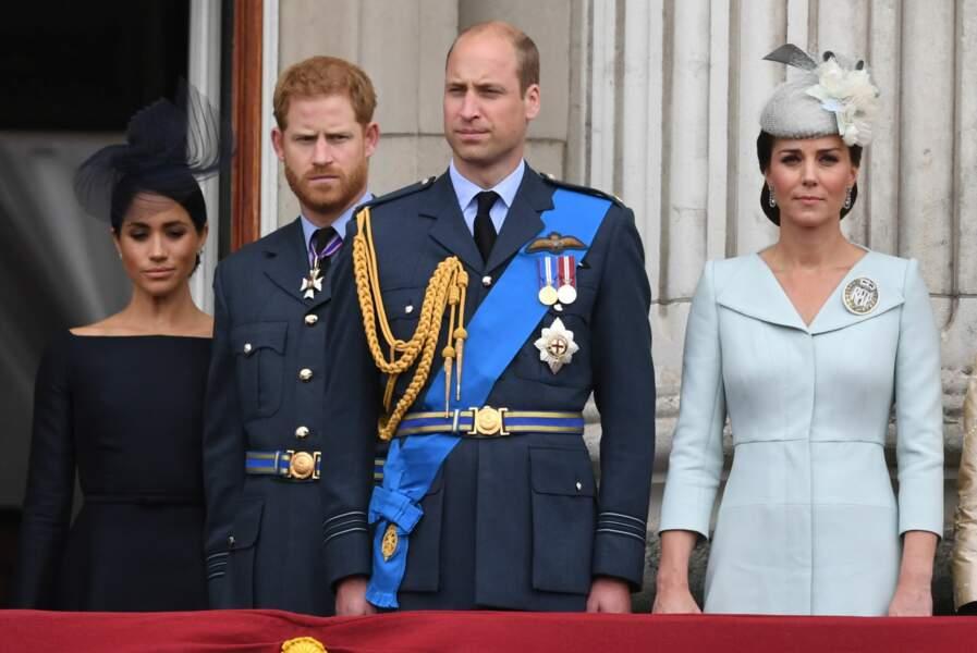 Les Fab Four sur le balcon de Buckingham Palace