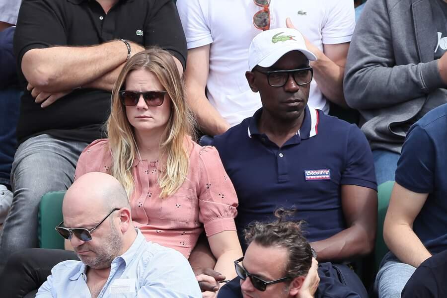 Lucien Jean-Baptiste et sa compagne Aurelie Nollet à Roland-Garros le 2 juin 2018