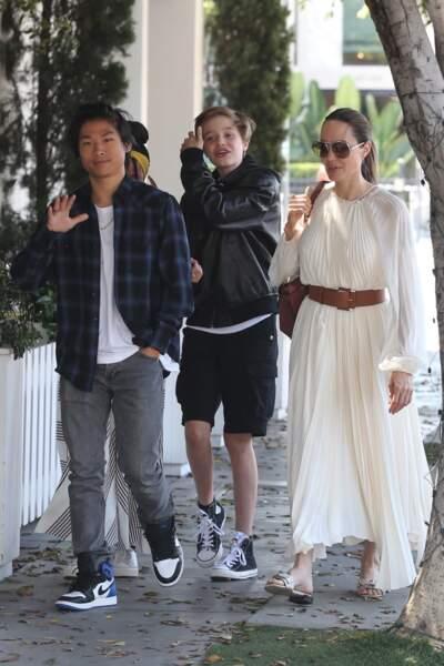 Angelina Jolie était elle aussi ravie de pouvoir profiter de ses enfants durant une journée