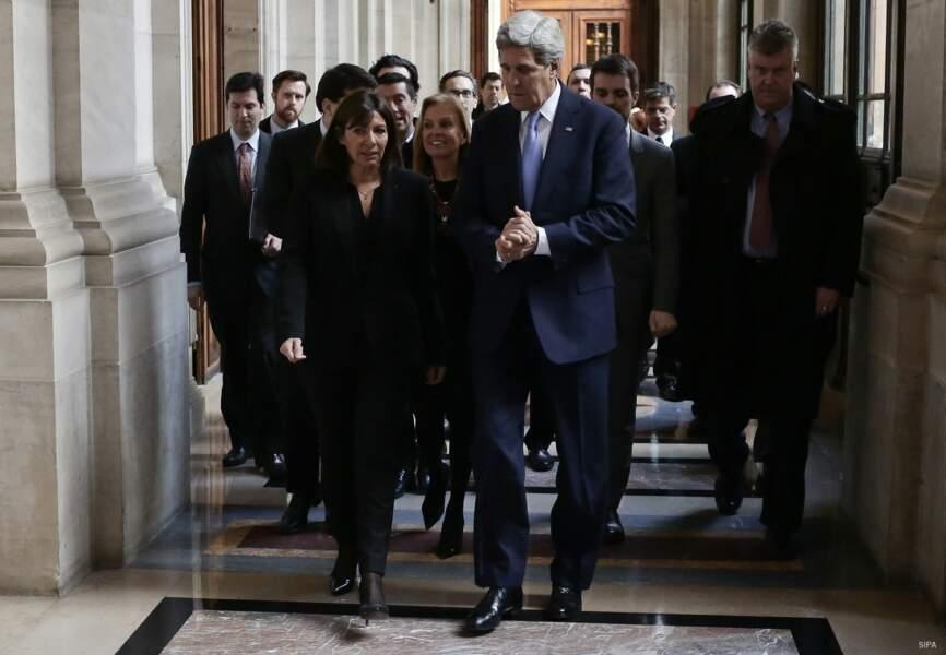 La maire de Paris a longuement échangé avec l'homme politique