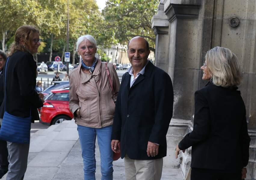 Richard Taxi aux obsèques ducomédien Jean Piat en l'église Saint François-Xavier à Paris le 21 septembre 2018