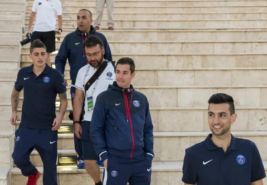 Les joueurs du PSG au village culturel de la Katara