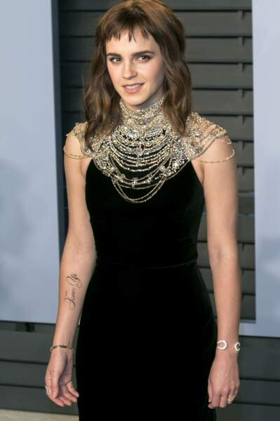 Emma Watson :  un faux tatouage pour un vrai symbôle