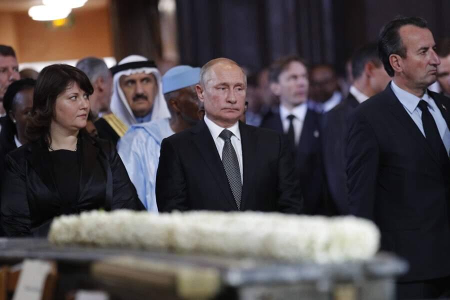 Vladimir Poutine aux obsèques de Jacques Chirac, en l'église Saint-Sulpice, à Paris, le 30 septembre 2019.