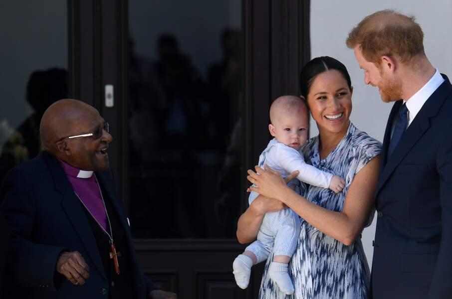 Le prince Harry, duc de Sussex, et Meghan Markle avec leur fils Archie, la star du jour
